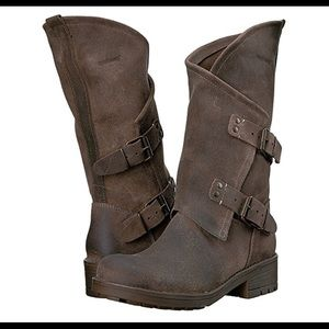 e8d81aef5acc coolway Shoes - COOLWAY Alida Leather Slouchy Dual Buckle Boot